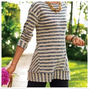 Soft Surroundings Marina Pullover Stripe Tunic